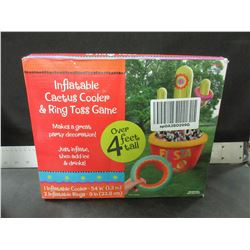 Inflatable Cactus Cooler & Ring Toss Game / just inflate & add ice & drinks