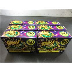Lot of 6 packs of BANG POPS 50 per pack / toss em big Bang