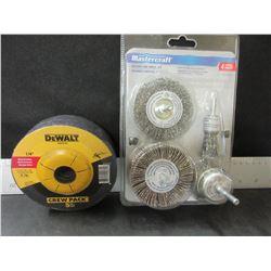 "New Grinding Bundle / 5 Dewalt grinding disks 4 1/2 x 1/4"" thick &"