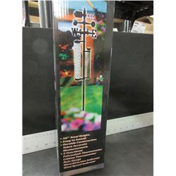 """New 5 Funtion Weather Vane Station / 56"""" tall / Rain Gage / Thermometer"""