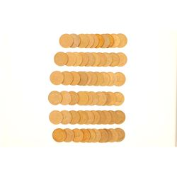 BULLION: [60] South African Krugerrand gold coins, Contain 1 troy ounce gold each; Assorted date