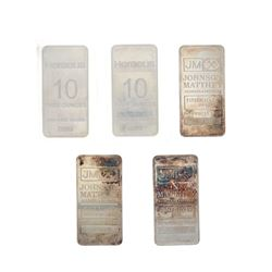 BULLION: (1) Heraeus 10 troy ounce .999 fine silver bar, #0588 BULLION: (1) Heraeus 10 troy ounce .9