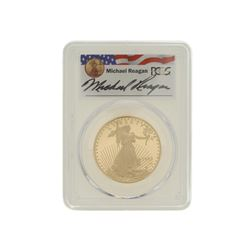 COIN: [1] 1993-W $50 Reagan Legacy Series gold coin; PCGS PR 69, 32957137