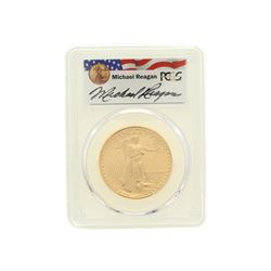 COIN: [1] 1986 $50 Reagan Legacy Series gold coin; PCGS MS 69, 32970667
