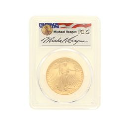 COIN: [1] 1988-W $50 Reagan Legacy Series Gold Eagle Coin; PCGS PR 69; 33013748
