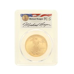 COIN: [1] 1989-W $50 Reagan Legacy Series Gold Eagle Coin; PCGS PR 69; 33188016