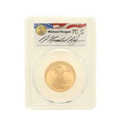 COIN: [1] 1987-P $25 Reagan Legacy Series Gold Eagle Coin; PCGS PR 69; 33518206