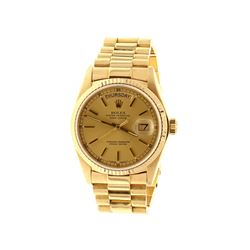 ROLEX: 18k yellow gold Rolex DayDate President, 36mm case, gold dial, fluted bezel, President bracel