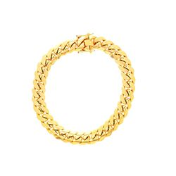 NECKLACE: [1] 14 karat yellow gold Cuban Link chain necklace;  20.7mms x 18 s; 580.5 grams