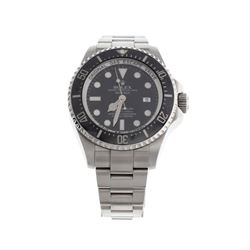 WATCH: [1] S/Steel Man's Rolex Oyster Perpetual Sea Dweller, black dial, black rotating bezel, model