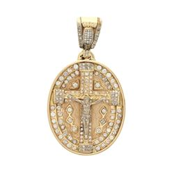 PENDANT: 14ky tested pendant; (24) prn diamonds, 1.5mm-1.7mm =est. 0.55cttw, Good/H-I/SI1-I1; (175)