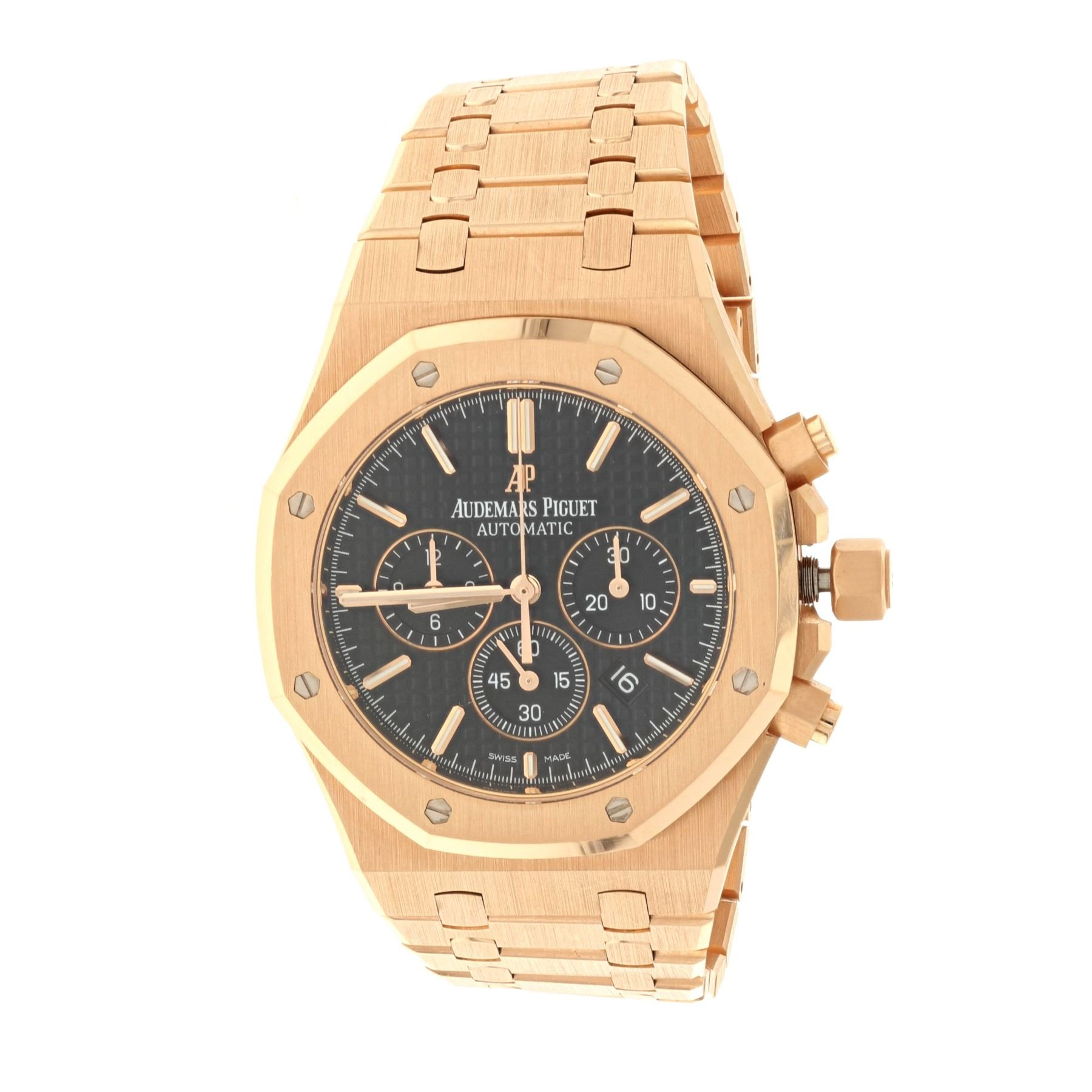b6e4bd13e48 Image 1   WATCH  18k rose gold Audemars Piguet Royal Oak Chronograph 50M  watch  ...