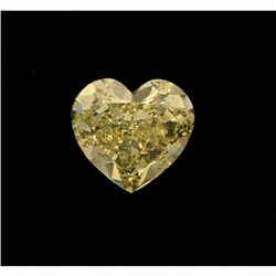 LOOSE DIAMOND: One (1) loose Heart cut diamond, 12.05mm x 11.27mm x 5.96mm = 5.88 carats, Fancy Inte