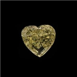LOOSE DIAMOND: One (1) loose Heart cut diamond, 11.67mm x 11.08mm x 5.02mm = 5.02 carats, Fancy Inte