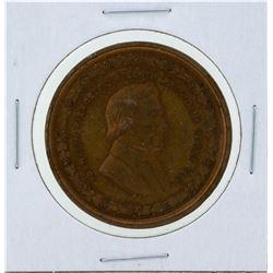 Circa 1880 Franklin Pierce George H Lovett Medal Red Brown
