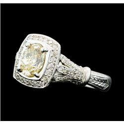 1.73 ctw Diamond Ring - 18KT White Gold