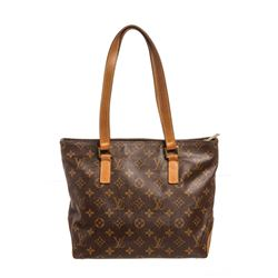 Louis Vuitton Monogram Canvas Leather Cabas Piano Shoulder Bag