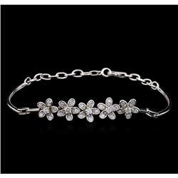 0.69 ctw Diamond Bracelet - 14KT White Gold