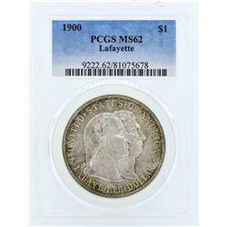 1900 $1 Lafayette Commemorative Dollar Coin PCGS MS62