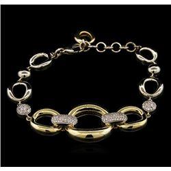 0.60 ctw Diamond Bracelet - 14KT Two-Tone Gold