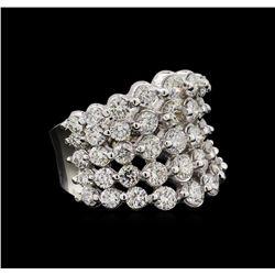 14KT White Gold 5.15 ctw Diamond Ring