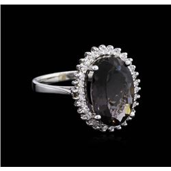 14KT White Gold 3.96 ctw Tourmaline and Diamond Ring