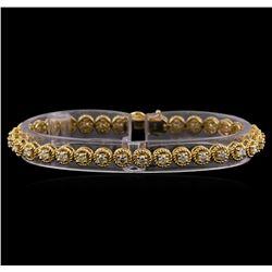 2.74 ctw Diamond Bracelet - 14KT Yellow Gold