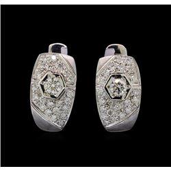 14KT White Gold 0.93 ctw Diamond Earrings