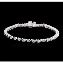 14KT White Gold 2.23 ctw Diamond Tennis Bracelet