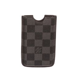 Louis Vuitton Damier Graphite Canvas Leather Iphone 3 Case