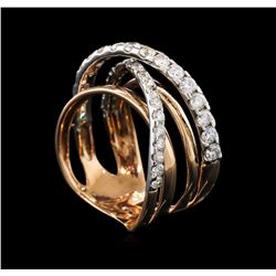 1.44 ctw Diamond Ring - 14KT Rose Gold