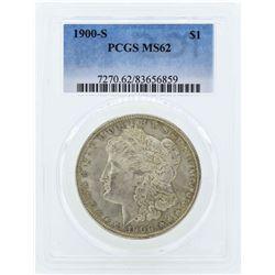 1900-S $1 Morgan Silver Dollar Coin PCGS MS62