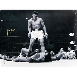 Muhammad Ali Standing Over Joe Frazier II - Black and White Print