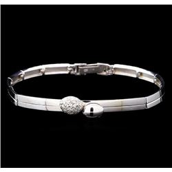 0.26 ctw Diamond Bracelet - 14KT White Gold