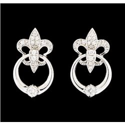 0.34 ctw Diamond Earrings - 14KT White Gold