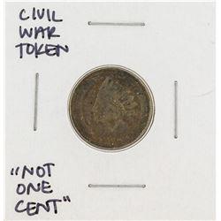 Civil War Token Not One Cent