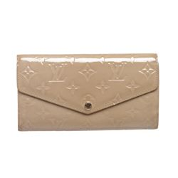 Louis Vuitton Beige Vernis Monogram Sarah Wallet
