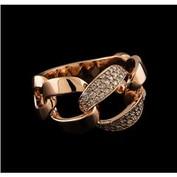 0.41 ctw Diamond Ring - 14KT Rose Gold