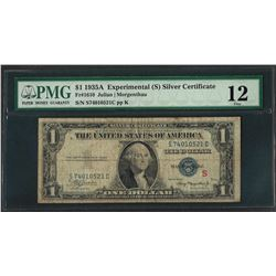 1935A $1 Experimental Silver Certificate Note Fr.1610 PMG Fine 12