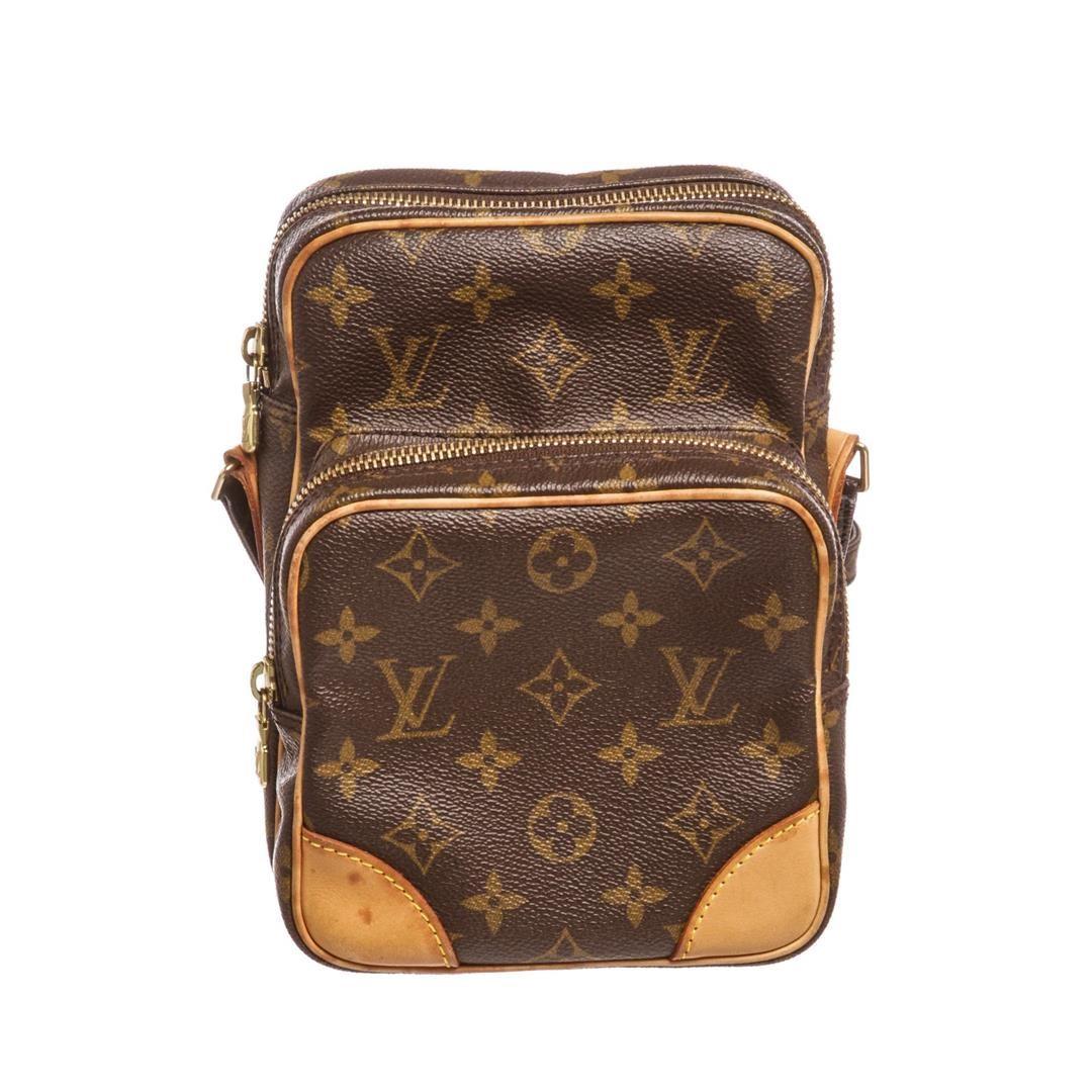 24e4e49d2ca1 Image 1   Louis Vuitton Monogram Canvas Leather Amazone Crossbody Bag ...