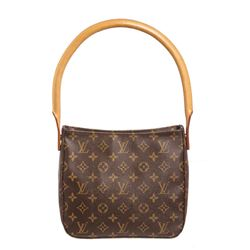 Louis Vuitton Monogram Canvas Leather Looping MM Shoulder Bag