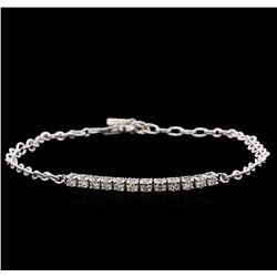 0.75 ctw Diamond Bracelet - 14KT White Gold