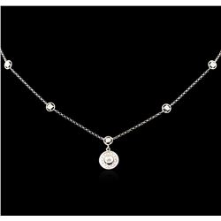 0.32 ctw Diamond Necklace - 14KT White Gold