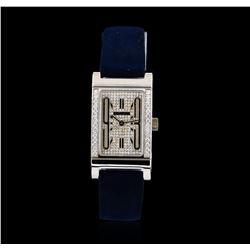 Bvlgari 18KT White Gold Diamond Rettangolo Ladies Watch