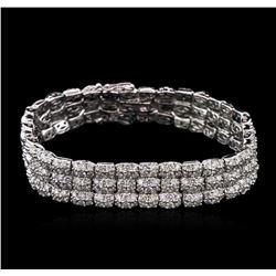 5.50 ctw Diamond Bracelet - 14KT White Gold