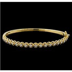 0.75 ctw Diamond Bracelet - 14KT Yellow Gold