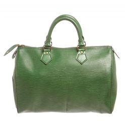Louis Vuitton Green Epi Speedy 30 cm Satchel Bag
