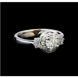 0.77 ctw Diamond Ring - 14KT White Gold