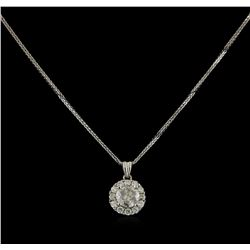 14KT White Gold 0.96 ctw Diamond Pendant With Chain
