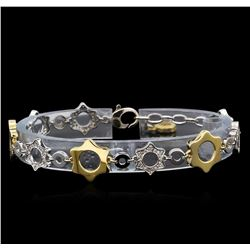 0.70 ctw Diamond Bracelet - 14KT Two-Tone Gold